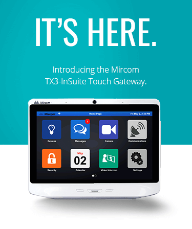 TX3 InSuite Touch Gateway Promotional Header